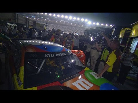 Kyle Busch and Truex Jr. tangle