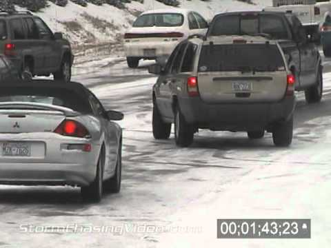 1/19/2005 Cars on icy roads in Raleigh