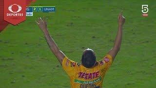 Golazo de Dueñas   Tigres 2 - 1 Pumas   Liga MX - Cuartos   Televisa Deportes