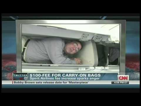 Spirit Airlines $100 fee for carry-on bags (May 10, 2012)