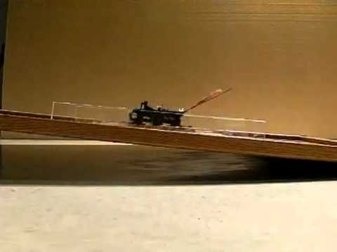 Incline running by wing-assisted robot
