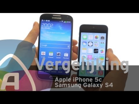 Apple iPhone 5c vs Samsung Galaxy S4 review (Dutch)