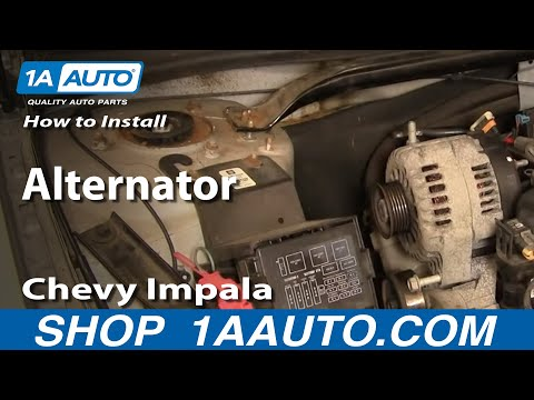 How To Install Repair Replace Alternator Chevy Impala 3800 v6 00-05 1AAuto.com