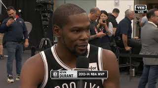 Kevin Durant on why he joined the Brooklyn Nets
