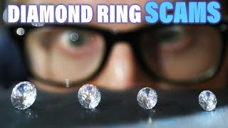 Diamond Engagement Ring Scams, Rip Offs and Mistakes. Don't Get Cheated Shopping Buying Tutorial Tip