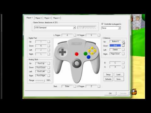Tutorial- como configura o controle de (ps2) do emulado de nintendo 64 ( Project64 2.0 )