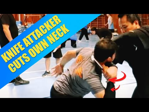 Silat Suffian Bela Diri - Knife Defense (Self cutting) Image 1