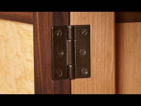 123 how to install a butt hinge mortise youtube rh youtube com cabinet door european hinge installation ikea cabinet door hinge installation