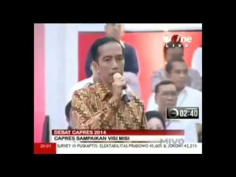 Pembukaan Debat Jokowi Tentang Politik Internasional Ketahanan Nasional