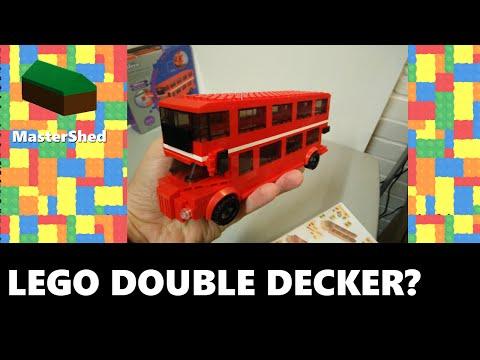 Wilko BLOX double decker bus / red london bus (LEGO Compatible) ✓ review   unbox   speed build