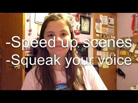 How to speed up scenes & squeak voice. VideoFXLive