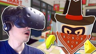 Store Clerk ROBBED for GOLDEN Cheese! - Job Simulator VR Gameplay