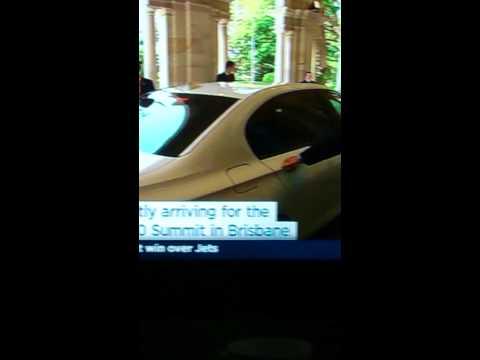 Narendra Modi arriving at G20 Brisbane
