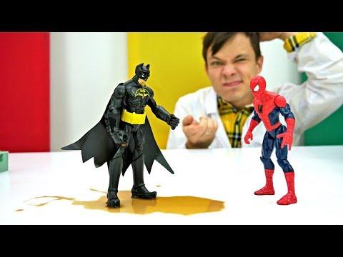Бэтмен подхватил Джокер-вирус. Видео для детей