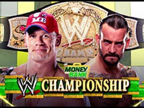 Money in the Bank 2011   John Cena vs  CM Punk  WWE Championship Match