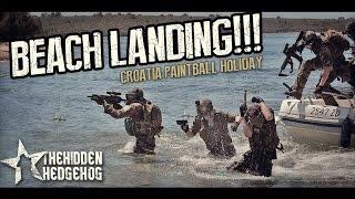 BEACH LANDING: Croatia paintball holiday!!!