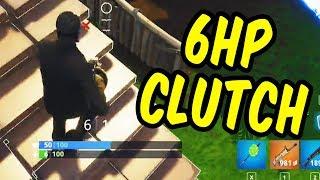 6 Health Clutch! - Fortnite Squads w/Teo, Paddy, Alex & Katie