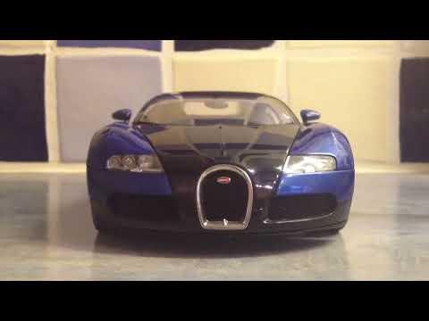 Bugatti Veyron - 1/18 AutoArt Show Car (Black/Blue Metallic)