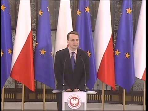 Radosław Sikorski - wystąpienie z 16 grudnia 2014 r.