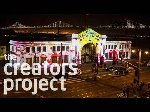 Architecture as a Technicolor Canvas | 'Emergence' by Obscura Digital at the Exploratorium