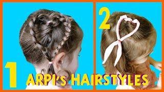 Heart Hairstyle ❤️ Valentine's Day Hair ???? Прическа Сердце Из Волос ????  Penteado Infantil de Cor