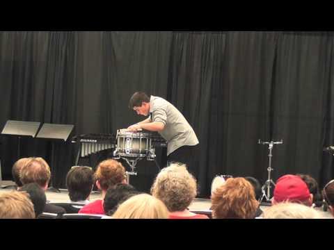 David Cavazos PASIC 2012 snare drum solo