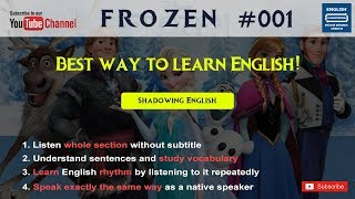 Frozen#1-The better way to learn a language English listening shadowing English speaking practice