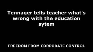 Teenager Tells Teacher What