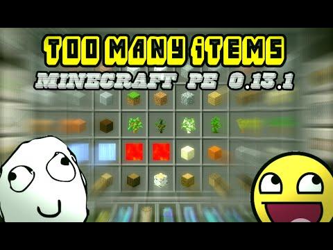 Too Many Items / Tool Box - MCPE 0.13.1   Mods para Minecraft PE 0.13.1