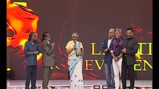 Janaki receiving Life Time Achievement Award in 6th Mirchi Music Awards  #MMASouth