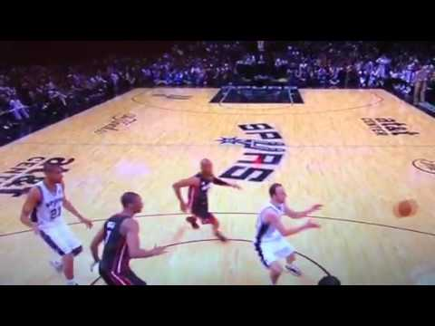 Tim Duncan Pats Manu on his Bald Spot