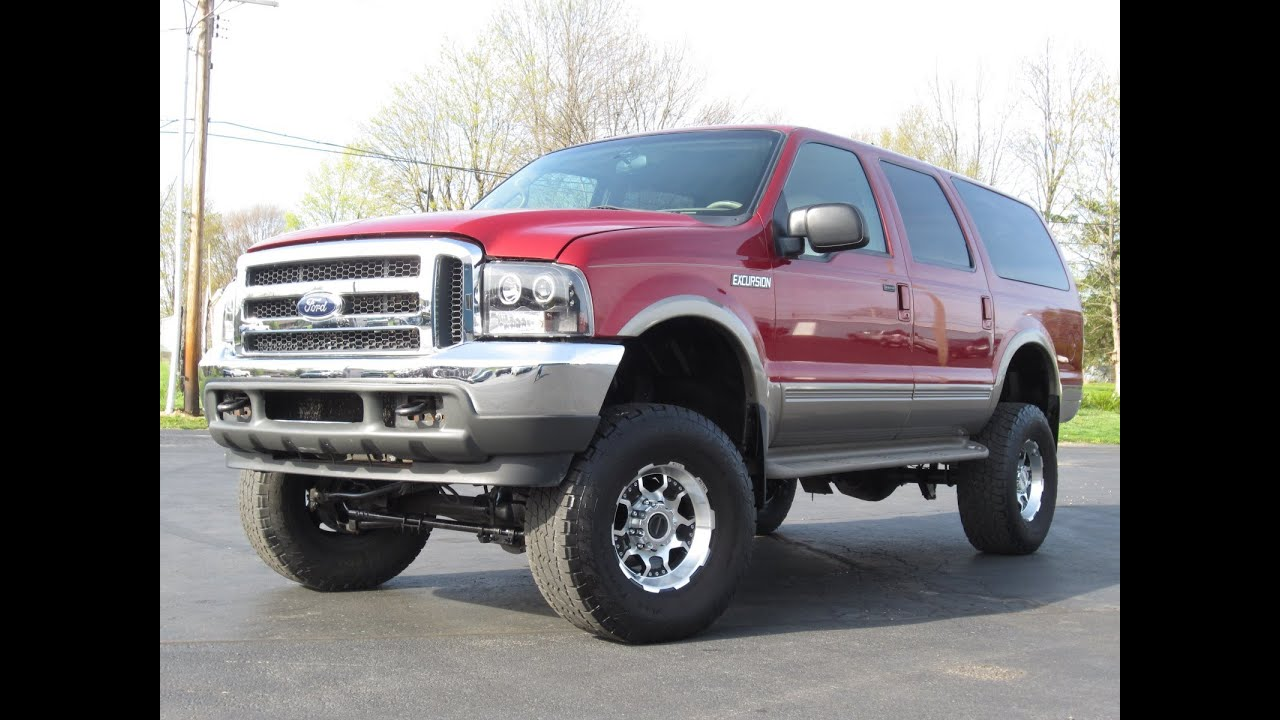 2001 Ford Excursion Limited 7 3l Powerstroke Lifted Badass