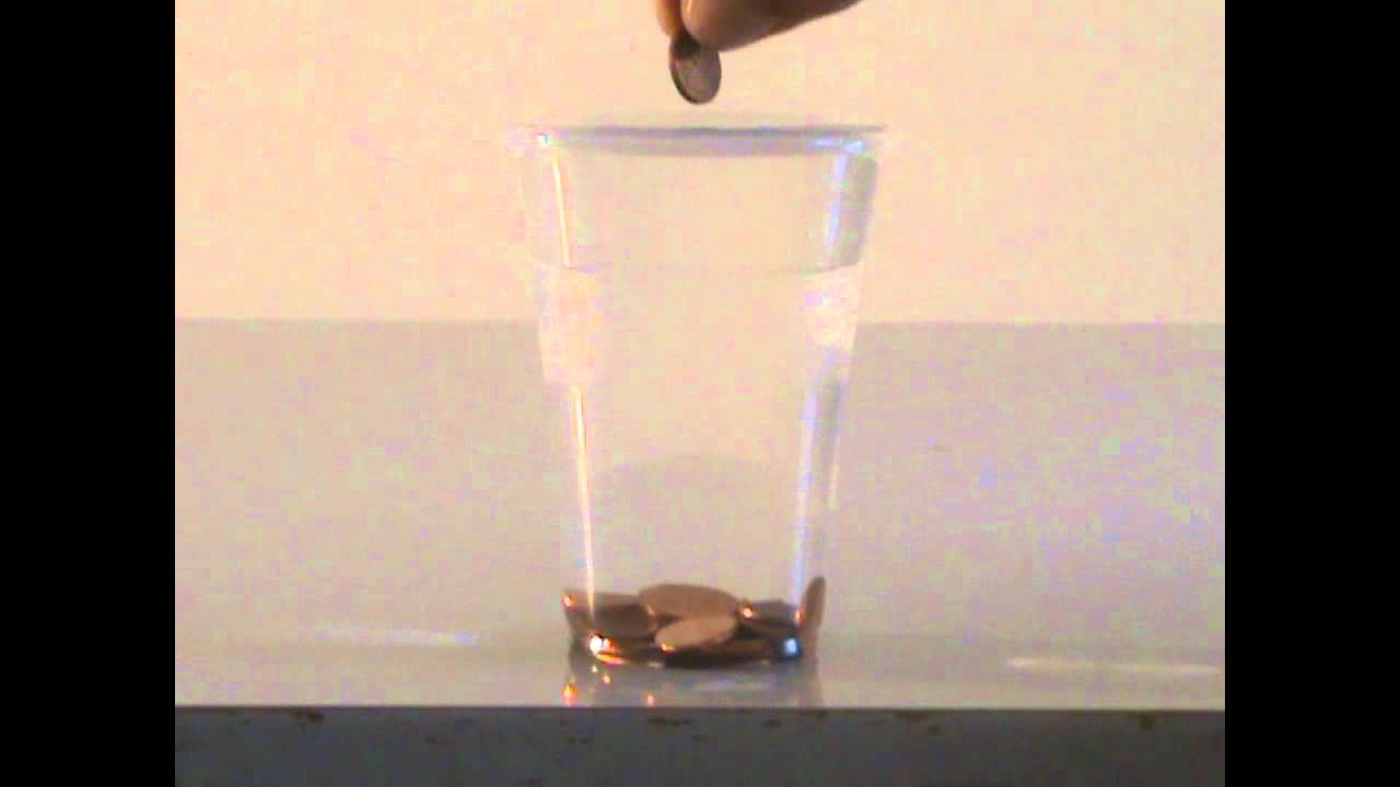 Water Surface Tension Experiment Water's Surface Tension