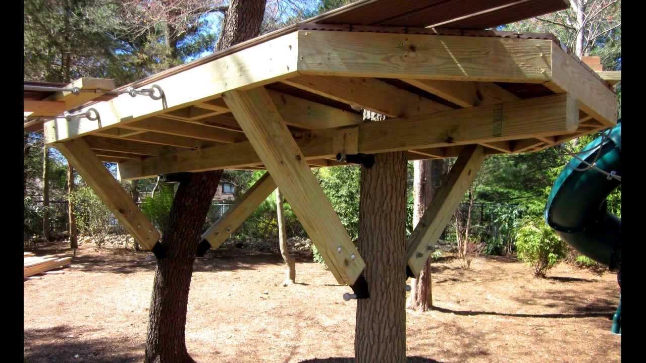 How To Install A Tree House Knee Brace Amp Bracket Youtube