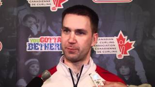 2012 Tim Hortons Brier Draw 7 Media Scrum