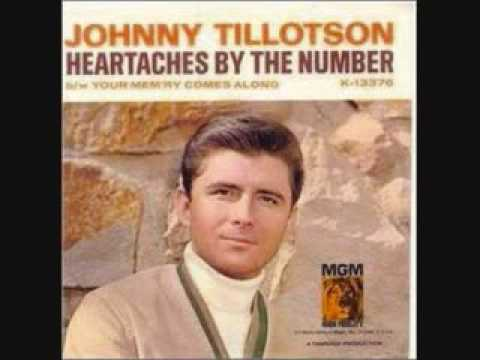 Johnny Tillotson - Heartaches By The Number
