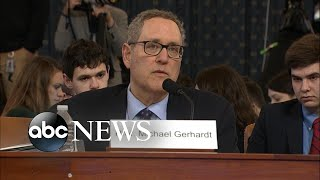 Michael Gerhardt delivers opening statement at impeachment hearing | ABC News
