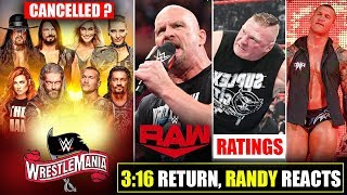 Wrestlemania 36 to CANCELLED😮 due to Coronavirus? Stone Cold RETURNS, Randy Orton, Jeff Hardy, Raw