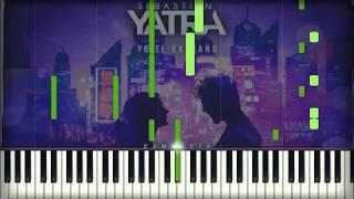 Sebastián Yatra - Yo Te Extraño piano karaoke cover tutorial instrumental sheets