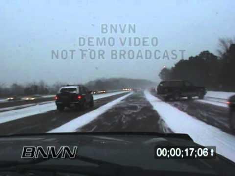 01/25/2004 Winter Storm Car Crash Footage.