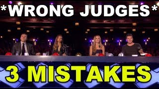 3 BIG Judges MISTAKES EVER!