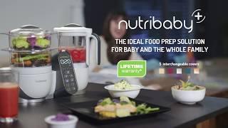 Robot Multifunctional 5 In 1 Nutribaby + Babymoov pentru preparare alimente bebelus si familie