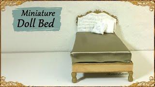 Elegant Miniature Doll Bed - Polymer Clay/Mixed media Tutorial