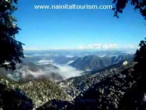 Himalayas from Nainital - Nainital Snowfall 2013 - 2014 - Nainital Tourism - Nainital Tour