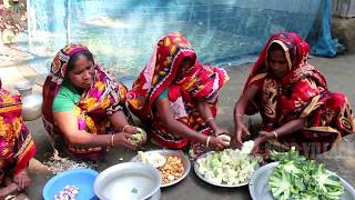 Fishing and cooking cauliflower and carp fish curry | Village food