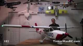 "Giant 1/4  Scale 120"" TMMY Cessna 182 Preview"