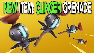 THE CLINGER IN USE! | FORTNITE NEW ITEM