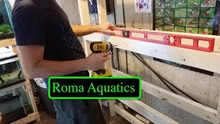 DIY Shrimp Tank Rack - Wooden 2x4 Rack 🆒