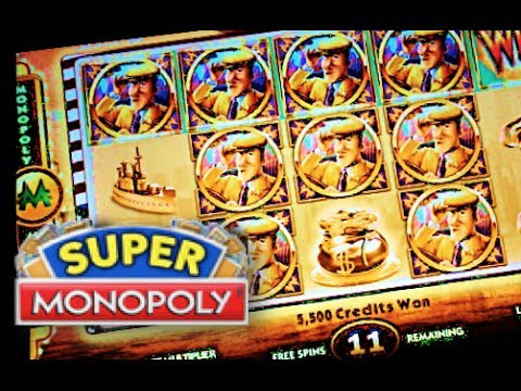 SUPER MONOPOLY PART 2 of 3 WMS SUPER Big Win Slot Machine Bonus Hot Days Theme