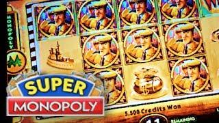 SUPER MONOPOLY - PART 2 of 3 | WMS - SUPER Big Win! Slot Machine Bonus (Hot Days Theme)